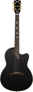 Musical Instruments:Acoustic Guitars, 1999 Gibson Chet Atkins SST Black Solid Body Electric Guitar, Serial #91729412.. ...