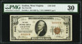 National Bank Notes:West Virginia, Grafton, WV - $10 1929 Ty. 1 The First National Bank Ch. # 2445 PMG Very Fine 30.. ...