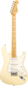 Musical Instruments:Electric Guitars, 2011 Fender Stratocaster White Solid Body Electric Guitar, Serial #US11032681.. ...