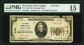 National Bank Notes:West Virginia, Wheeling, WV - $20 1929 Ty. 1 The National Exchange Bank Ch. # 5164 PMG Choice Fine 15.. ...