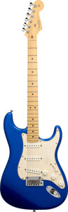 Musical Instruments:Electric Guitars, 2004 Fender Stratocaster Blue Solid Body Electric Guitar, Serial #Z4153126.. ...