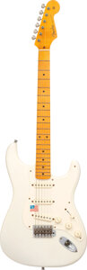 Musical Instruments:Electric Guitars, 2005 Fender Eric Johnson Stratocaster White Solid Body Electric Guitar, Serial #EJ02386.. ...