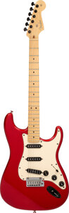 Musical Instruments:Electric Guitars, 2005 Fender Stratocaster Candy Apple Red Solid Body Electric Guitar, Serial #Z4153244.. ...