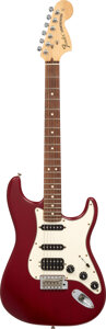 Musical Instruments:Electric Guitars, 2006 Fender Highway One Stratocaster Wine-Transparent Solid Body Electric Guitar, Serial #Z6248182.. ...
