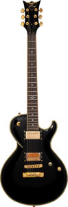 Musical Instruments:Electric Guitars, circa 2009 Dean Custom Black Solid Body Electric Guitar, Serial #Z09060005.. ...