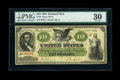 Large Size:Demand Notes, Fr. 6 $10 1861 Demand Note PMG Very Fine 30....
