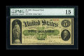 Large Size:Demand Notes, Fr. 1 $5 1861 Demand Note PMG Choice Fine 15....