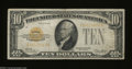 Small Size:Gold Certificates, Fr. 2400 $10 1928 Gold Certificate. About Very Fine.