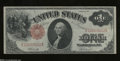 Fr. 37 $1 1917 Legal Tender Note Extremely Fine. Light folds, nice paper, and good color converge on this lightly handle...