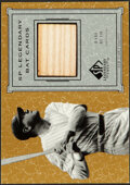 Baseball Cards:Singles (1970-Now), 2001 SP Legendary Cuts Babe Ruth Bat Relic Card #B-BR....