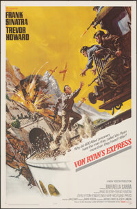 "Von Ryan's Express (20th Century Fox, 1965). Folded, Very Fine. One Sheet (27"" X 41"") Frank McCarthy Artwork..."