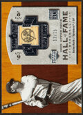 """Baseball Cards:Singles (1970-Now), 2005 UD Hall Of Fame """"Hall Of Fame Materials"""" Babe Ruth Bat Relic Card #HFM-BR2 - Serial Numbered 11/15. ..."""
