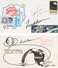 Explorers:Space Exploration, Apollo 8 Crew-Related Signed Covers. Two philatel...