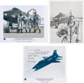 Explorers:Space Exploration, X-15: Group of Three Photos Individually Signed by Dana, K...
