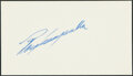 Autographs:Index Cards, Roy Campanella Signed Cut. The most beloved figur...