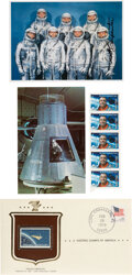 Explorers:Space Exploration, Project Mercury: Three Philatelic Items Related to the Mer...