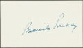 Autographs:Index Cards, Branch Rickey Cut Signature. A glorious blue ink ...
