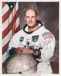 Explorers:Space Exploration, Tom Stafford Signed Apollo 10 White Spacesuit Color Photo....