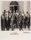 Explorers:Space Exploration, Mercury Seven Astronauts: Photo with John F. Kennedy and V...