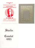 Memorabilia:Comic-Related, Jim Starlin Camelot 4005 and Others Limited Edition Portfolio Group of 3 (Various Publishers, c. 1970s)... (Total: 3 Items)