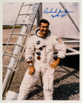 Explorers:Space Exploration, Richard Gordon Signed White Spacesuit Apollo 12 Color Phot...