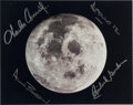 """Explorers:Space Exploration, Apollo 12: Crew-Signed Image of the Moon. A 10"""" x..."""