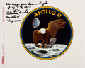 Explorers:Space Exploration, Apollo 11: Large Mission Insignia Photo Signed by Charlie ...