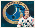 Explorers:Space Exploration, Alan Shepard Signed Apollo 14 White Spacesuit Color Photo....