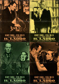 """Movie Posters:Hitchcock, The Wrong Man (Warner Bros., 1957). Folded, Very Fine-. Italian Photobustas (9) (18.5"""" X 26.5""""). . ... (Total: 9 It..."""