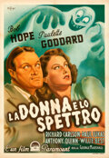 """Movie Posters:Horror, The Ghost Breakers (Paramount, Late 1940s). Folded, Fine+. First Post-War Release Italian Foglio (27"""" X 39.5"""").. ..."""