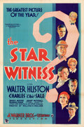 """Movie Posters:Crime, The Star Witness (Warner Bros.-Vitaphone, 1931). Folded, Very Fine-. One Sheet (27"""" X 41"""") Style B.. ..."""