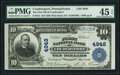 National Bank Notes:Pennsylvania, Coudersport, PA - $10 1902 Plain Back Fr. 631 The First National Bank Ch. # 4948 PMG Choice Extremely Fine 45 EPQ.. ...