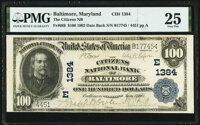 Baltimore, MD - $100 1902 Date Back Fr. 689 The Citizens National Bank Ch. # (E)1384 PMG Very Fine 25