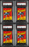 Baseball Cards:Unopened Packs/Display Boxes, 1975 Topps Baseball Unopened Wax Pack PSA EX-MT 6 Lot of 4. ...
