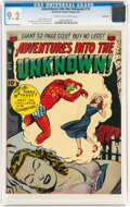 Golden Age (1938-1955):Horror, Adventures Into The Unknown #16 Northford Pedigree (ACG, 1951) CGC NM- 9.2 Cream to off-white pages....