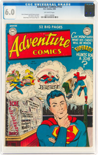 Adventure Comics #152 (DC, 1950) CGC FN 6.0 Off-white pages