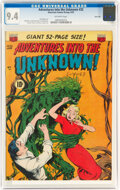 Golden Age (1938-1955):Horror, Adventures Into The Unknown #32 River City Pedigree (ACG, 1952) CGC NM 9.4 Off-white pages....