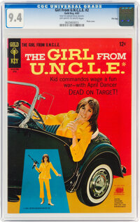 Girl From U.N.C.L.E. #2 File Copy (Gold Key, 1967) CGC NM 9.4 Off-white to white pages
