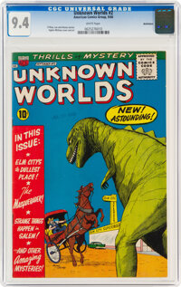 Unknown Worlds #2 Bethlehem pedigree (ACG, 1960) CGC NM 9.4 White pages