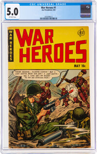 War Heroes #1 (Ace, 1952) CGC VG/FN 5.0 Off-white pages