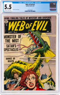 Web of Evil #4 (Quality, 1953) CGC FN- 5.5 Off-white to white pages