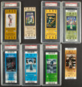 Football Collectibles:Tickets, 2000s Super Bowl Full Tickets, Lot of 8.... (Total: 8 items)