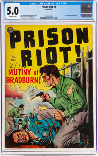 Prison Riot #1 (Avon, 1952) CGC VG/FN 5.0 Off-white pages