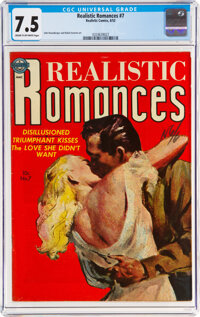 Realistic Romances #7 (Avon, 1952) CGC VF- 7.5 Cream to off-white pages