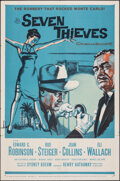 "Movie Posters:Crime, Seven Thieves (20th Century Fox, 1959). Folded, Very Fine-. One Sheet (27"" X 41""). Crime.. ..."