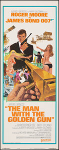 "Movie Posters:James Bond, The Man with the Golden Gun (United Artists, 1974). Rolled, Very Fine+. Insert (14"" X 36"") Robert McGinnis Artwork. James Bo..."