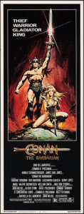 """Movie Posters:Action, Conan the Barbarian (Universal, 1982). Rolled, Very Fine/Near Mint. Insert (14"""" X 36"""") Renato Casaro Artwork. Action.. ..."""