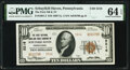 National Bank Notes:Pennsylvania, Schuylkill Haven, PA - $10 1929 Ty. 2 The First National Bank & Trust Company Ch. # 5216 PMG Choice Uncirculated 64 EP...