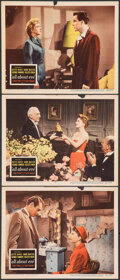 "Movie Posters:Academy Award Winners, All About Eve (20th Century Fox, 1950). Fine+. Lobby Cards (3) (11"" X 14""). Academy Award Winners.. ... (Total: 3 Items)"