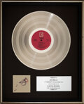 Music Memorabilia:Awards, The Cars Candy-O In-House Platinum Sales Award Presented to Concert Promoter Jack Belle (Elektra, 1979)....